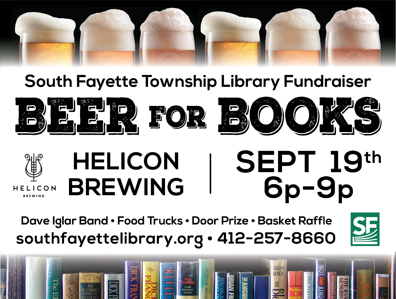 Beer for Books - Sign Graphic