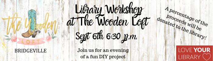 Wooden Loft Workshop Banner