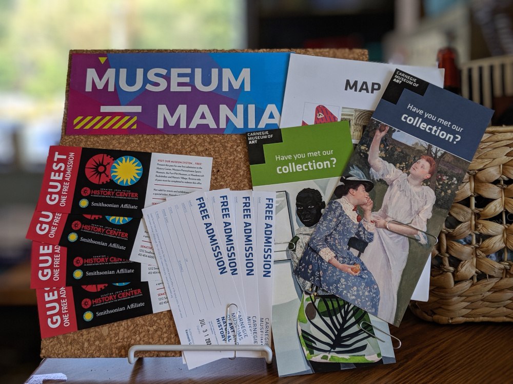 4 passes to the Heinz History Center, 4 passes to the Carnegie Museum