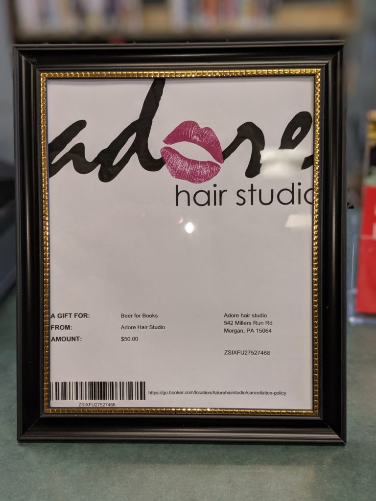 $50 gift card to Adore Salon -- donated by Adore Salon