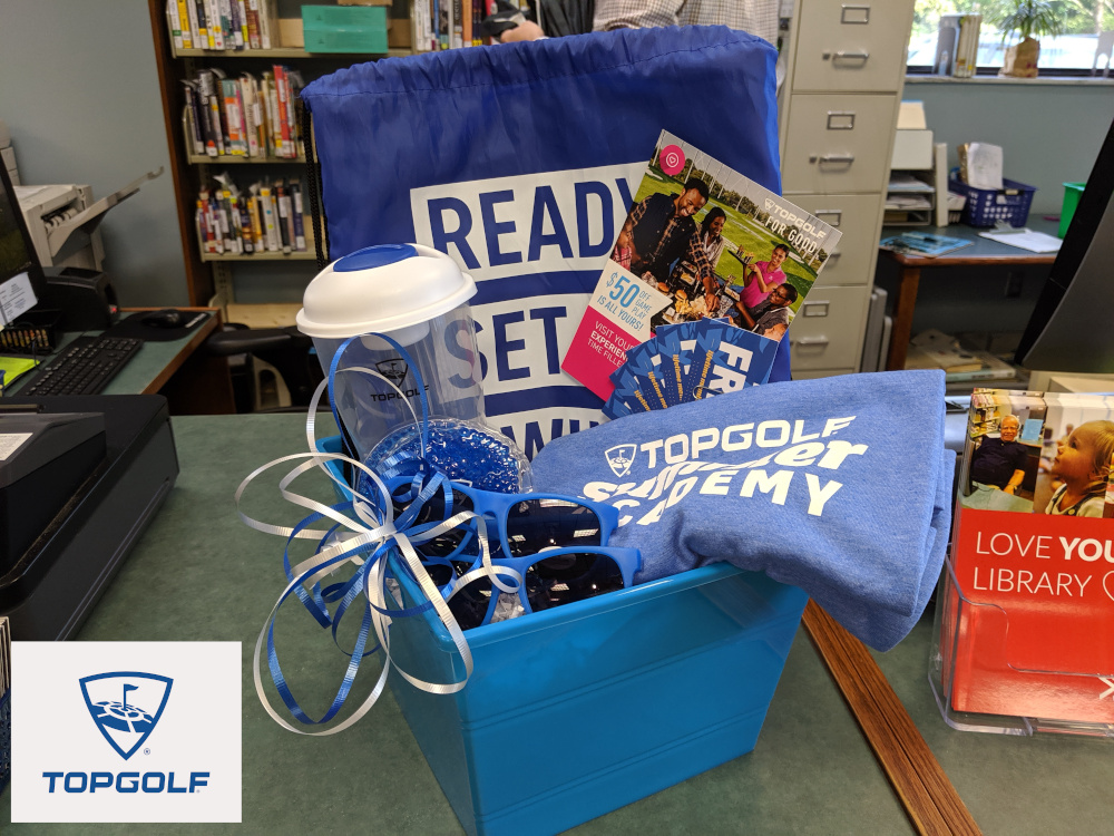 $50 Game Play Voucher and assorted swag - donated by sponsor Topgolf
