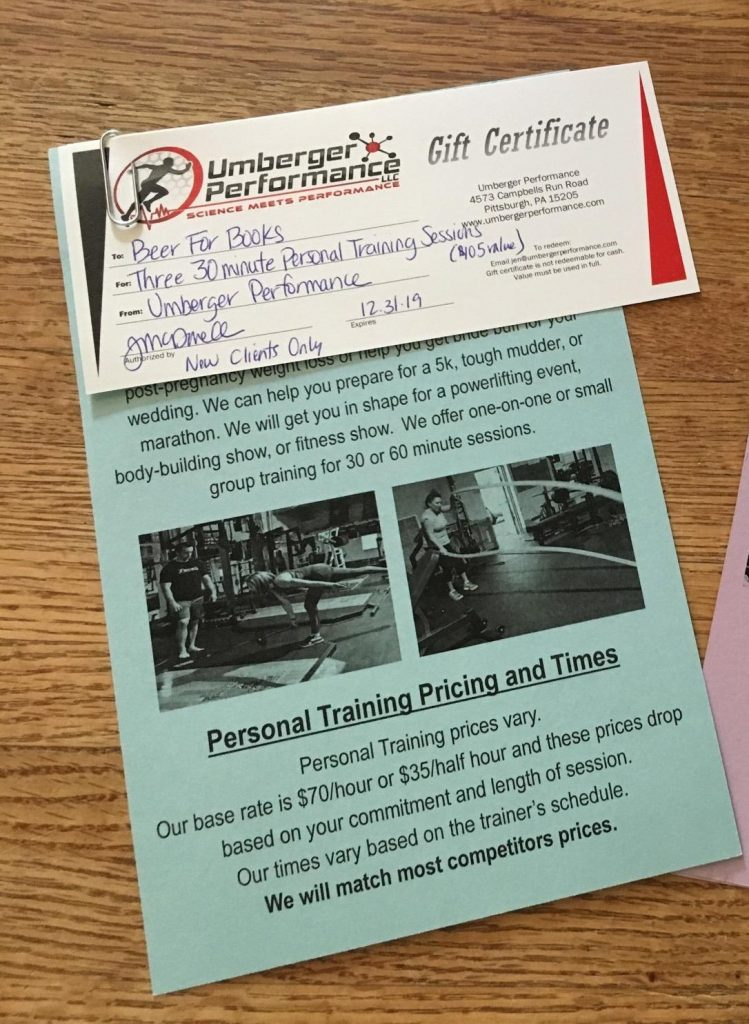 3 personal training sessions at Umberger Fitness -