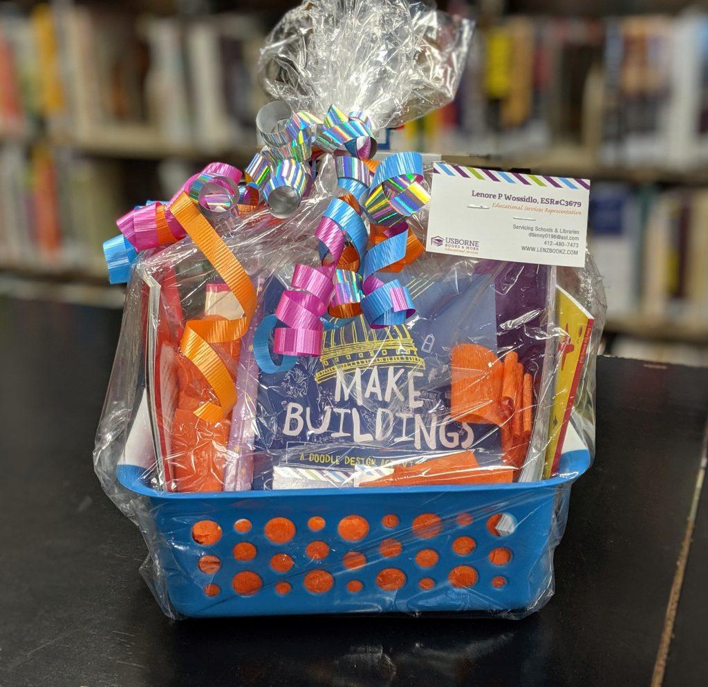 Basket of Usborne Books for Kids