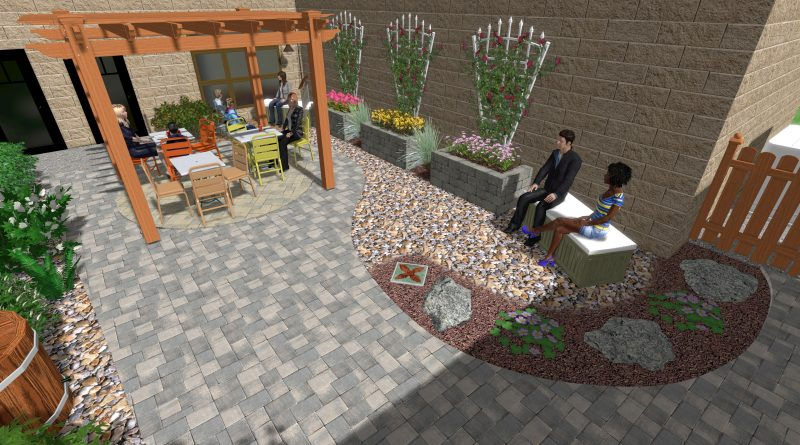 Reading and Activity courtyard rendered image