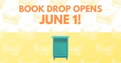 Library book drop opens June 1