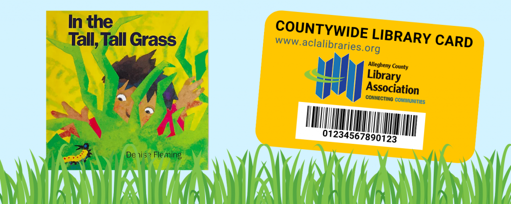 Storywalk Banner (In the Tall, Tall Grass Book Cover and Countywide Library Card)
